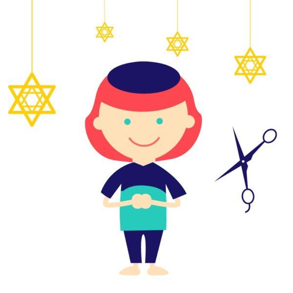 Animation enfant pour coupe de cheveux (Halakha)